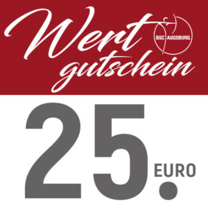 Wertgutschein 25 Euro - BSC AUGSBURG